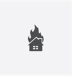 Home fire icon vector