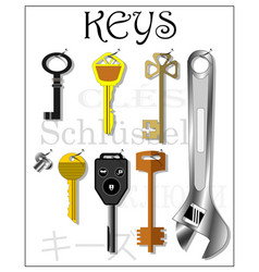housekeeper for storing various keys vector image