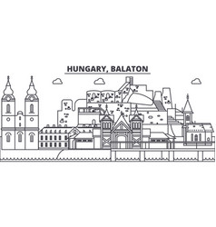 Hungary balaton line skyline vector