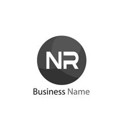 Initial letter nr logo template design vector