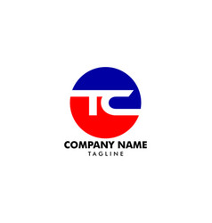 Initial letter tc logo template design vector