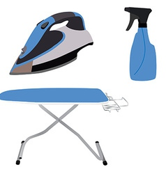 Ironing board iron and spray vector image