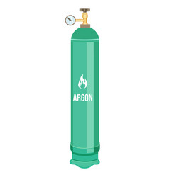 Isolated icon argon gas in green container vector