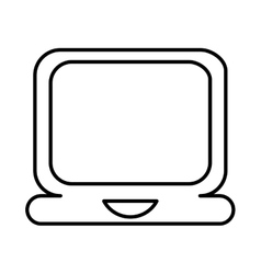 laptop lineal icon design vector image