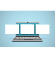 Laptop screen background vector
