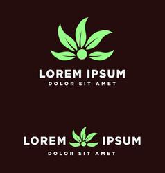 Leaf green eco creative logo template vector