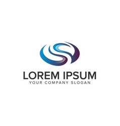 letter s 3d ovale logo design concept template vector image