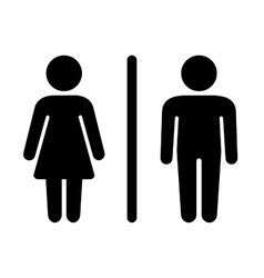 Man and Woman Icon on White Background vector image