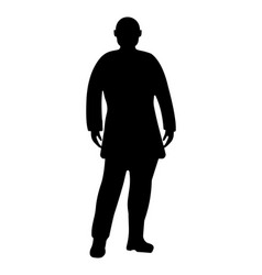 man silhouette on white background vector image