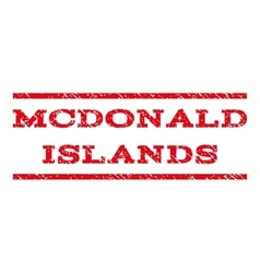 Mcdonald Islands Watermark Stamp vector