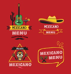Menu mexican design vector image