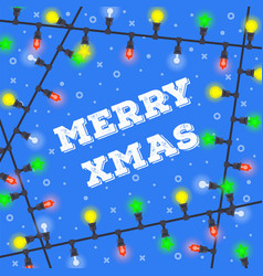 merry christmas new year gift card vector image