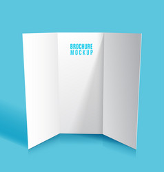 Mockup tri-fold brochure design isolated vector