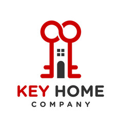 modern home key logo vector image