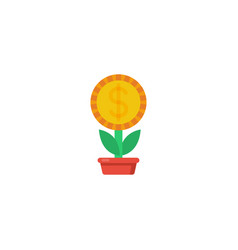 money grow icon vector image