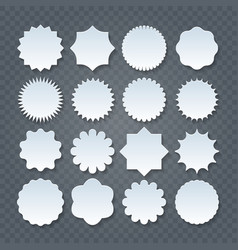 papercut sticker set on transparent background vector image