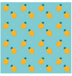 pineapple dots pattern blue background imag vector image
