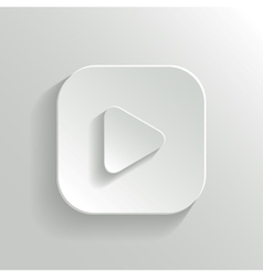 Play icon - media player icon - white app button vector