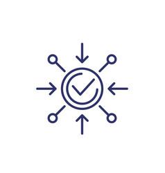 Positive impact icon on white line vector