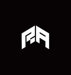 Ra logo monogram modern design template vector