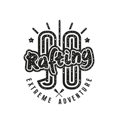 Rafting club emblem in retro style vector image