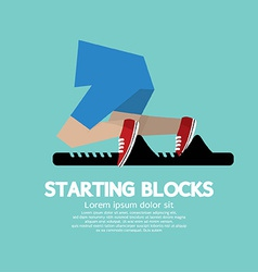 Running Starting Blocks vector image