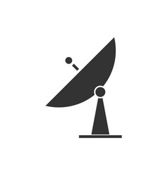 satellite tv icon flat vector image