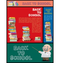 School banner set part 3 vector