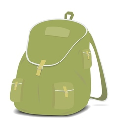 Schoolbag backpack on a white background vector image vector image