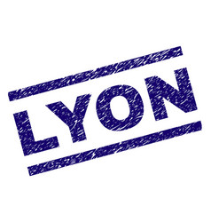 Scratched textured lyon stamp seal vector