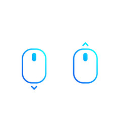 Scroll down and up icons vector