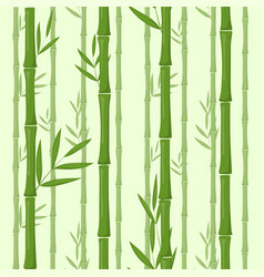 set bamboo isolated on white vector image