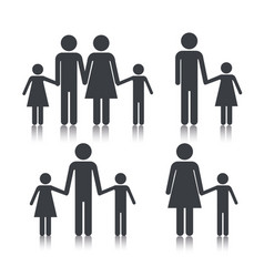 Set pictogram family group together vector