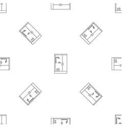 Shower bath cabine pattern seamless vector