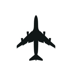 Simple black Plane icon on white background vector