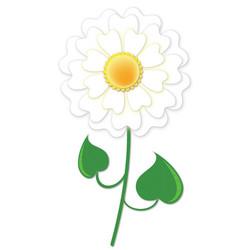 Single daisy vector