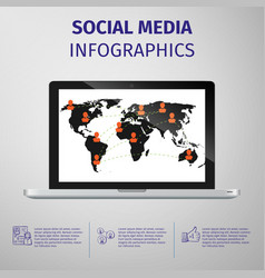 Social media infographics vector image