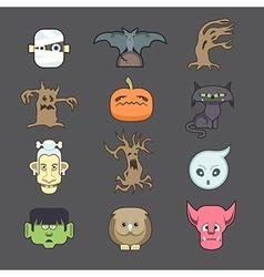 spooky halloween vector image