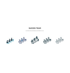 Succes team icon in different style two colored vector