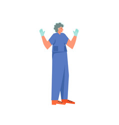 surgeon ready to operate flat style design vector image
