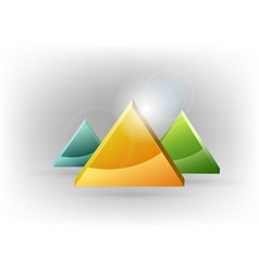 three triangles fresh vector image