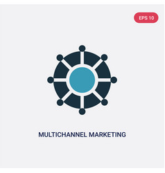 Two color multichannel marketing icon from vector