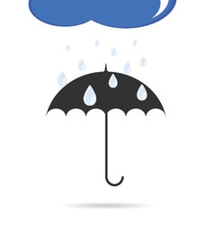 umbrella with rain color vector image