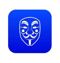 vendetta mask icon digital blue vector image