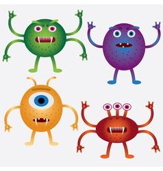 cartoon microbes vector image