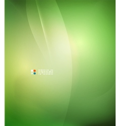 Fresh green blur wave and colors vector image vector image