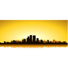 gold cityscape vector image vector image