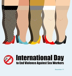 International Day to End Violence Against Sex vector image