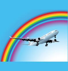 Plane and rainbow vector