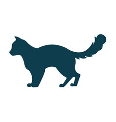 with a cat silhouette vector image